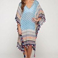 Cori Embroidered Boho Print Caftan