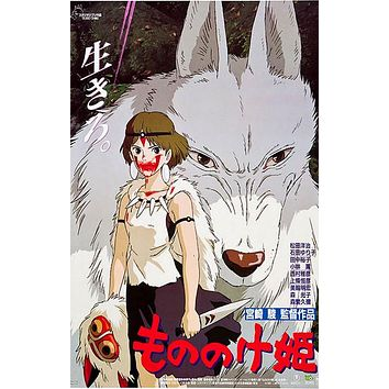 Princess Mononoke Anime Movie Poster 11x17