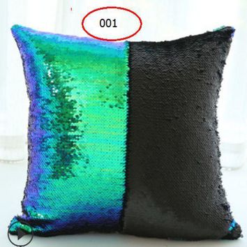 The Latest Two Color Sequin Pillow