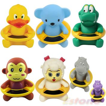 High Quality Baby Infant Bath Tub Water Temperature Tester Toy Cute Animal Shape Thermometer APR10