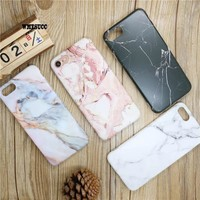 WMZSUCC Fashion Marble Phone Cases for iPhone X/ 8 Case For Apple iphone 7/ 6 Plus 6SPlus Smooth Back Cover Capa Fundas Coque