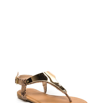 Plate It Cool Snake Thong Sandals