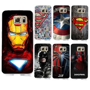 Deadpool Dead pool Taco Marvel Superman Superhero Avengers  Case Cover for coque Samsung Galaxy S6 S7 S7 Edge Captain America Shield Batman Case AT_70_6
