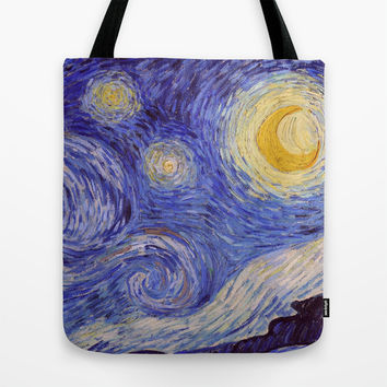 Vincent Van Gogh Starry Night Tote Bag by Art Gallery