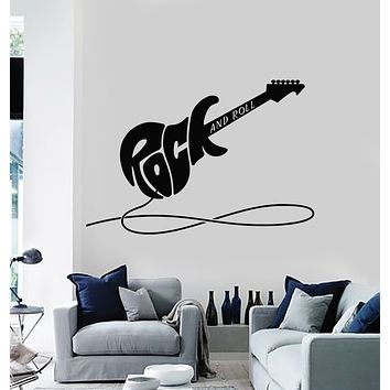 Vinyl Wall Decal Electric Guitar Rock&Roll Musical Instrument Stickers Mural (g3007)