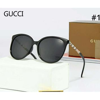GUCCI Tide brand personality large frame polarized female color film sunglasses #1