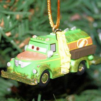 Licensed cool NEW Disney PLANES LANDING CREW CHUG FUEL TRUCK  Christmas Holiday Ornament PVC
