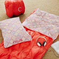 Pin Tuck Sleeping Bag + Pillowcase, Ruby Buscuit Warm