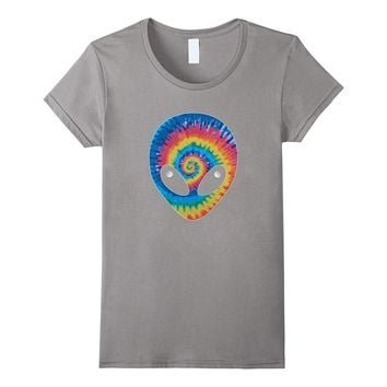 ALIEN HEAD TIE DYE T-SHIRT