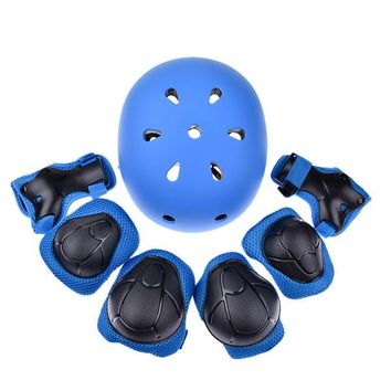 Sports Hat Cap trendy  7PCS  Baby Children Cap Protective Gear For Kids Children Elbow Pads Knee Pads Wrist Guard Helmet For Cycling Skate KO_16_1