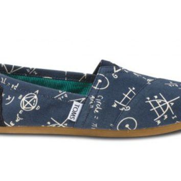 Navy Geometry Women's Vegan Classics | TOMS.com