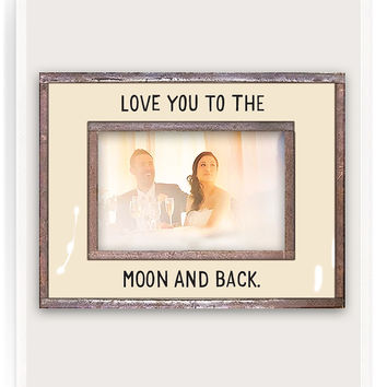 Love You To The Moon Copper & Glass Photo Frame