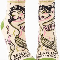 Makin' Waves Mermaid Women's Ankle Socks