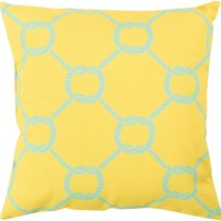 Rain Throw Pillow Yellow, Blue