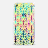 Mermaid's Braids in Rainbow Colors on Transparent iPhone 5c case by Micklyn Le Feuvre | Casetify