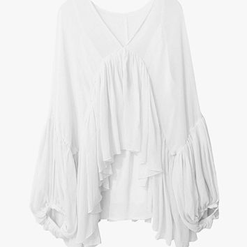 Take Me On Vacation Ruffle Blouse