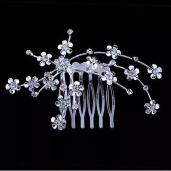Vine Bridal Crystal Hair Comb