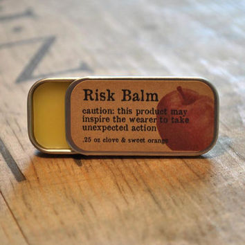 Beeswax lip balm clove sweet orange scent in 25 by RiskLoveFreedom