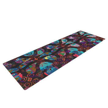 "Suzanne Carter ""Pattern"" Multicolor Abstract Yoga Mat"