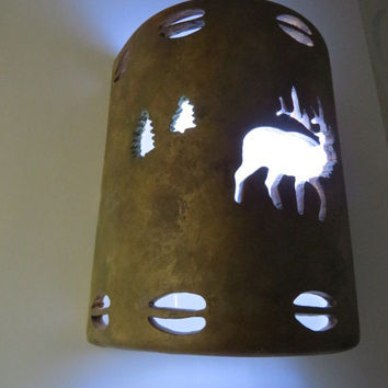Elk Cutout Ceramic wall sconce