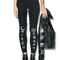 BLACK HOPE CURSE Witch Craft Leggings
