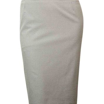 Tahari Women's Seersucker Pencil Skirt