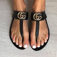 '' Gucci '' Casual Fashion Women Sandal Slipper Shoes