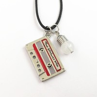 "Stranger Things ""Cassette Tape & Light Bulb"" Necklace"