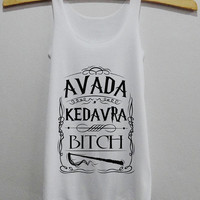 Avada Kedavra Bitch Magic Spell Harry Potter Tank Top