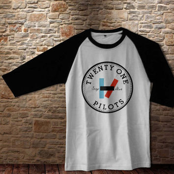 21Pilots Raglan shirt Twenty one pilots stay alive shirt tshirt, Rock band shirt white and gray