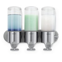 simplehuman Triple Shampoo & Soap Dispenser Wall-Mount Pumps (Grey)