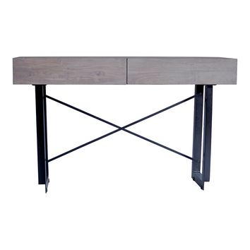 Tiburon Industrial Style Console Table Pale Grey