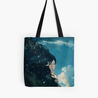 'Shhh...Lady Night Is Coming' Tote Bag by Paula Belle Flores