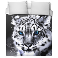 Snow leopard Bed Sheet