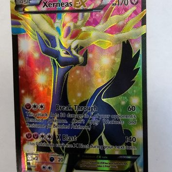XERNEAS Ex FULL ART 146/146 ULTRA RARE HOLO Pokemon TCG XY Base Set