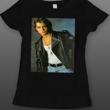 80'S HEART THROB JOEY LAWRENCE LADIES T-SHIRT