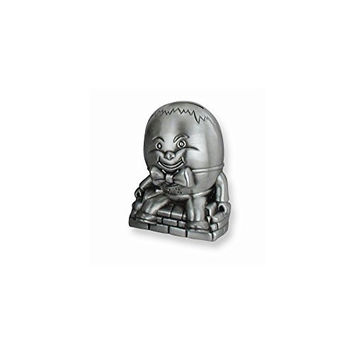 Pewter-Tone Humpty Dumpty Metal Bank