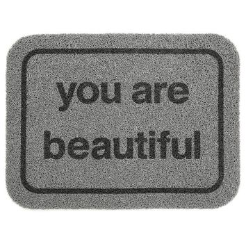 You Are Beautiful Floor Mat