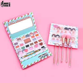 Korea EXO Cosmetics Eyeshadow Pallete Lazy Eyeshadow Long-lasting Eye Shadow Matte Easy to Wear Makeup Palette Paleta De Sombra
