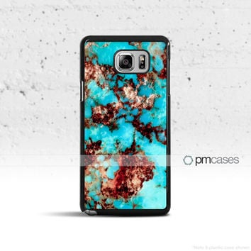 Turquoise Stone *Design Case Cover for Samsung Galaxy S5 S6 S7 S8 Plus Edge Active Note 4 5 7