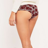 Aurelie Floral Contrast Band Hipster Briefs - Urban Outfitters