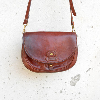 Vintage THE BRIDGE 037725 Leather Purse , Crossbody , Shoulder Bag // Small // Made in Italy