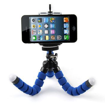 Mini Portable Flexible Sponge Octopus Tripod Stand Mount With Holder For Phone Action Camera and Camcorder/redmi 3s phone holder