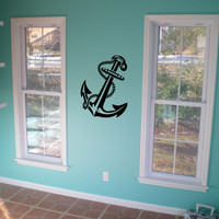 Anchor Decal Vinyl Sticker Navy Ship Boating Sticker Vinyl Nautical Maritime Wall Decal for Car Truck or Boat
