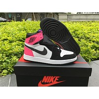 "Air Jordan 1 GS ""Valentines Day"" Women Basketball Shoes"