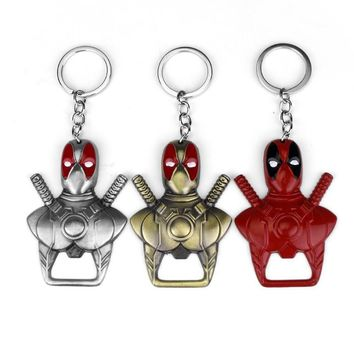 Deadpool Dead pool Taco MQCHUN Anime Jewelry  Keychain 2 Use Bar Beer Bottle Opener Key Chain Keyring Charms Chaveiro Ornaments Trinket Keychain AT_70_6