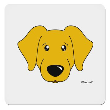 "Cute Yellow Labrador Retriever Dog 4x4"" Square Sticker by TooLoud"