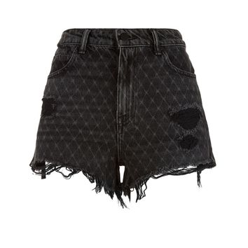 Alexander Wang Printed Denim Shorts | Harrods.com