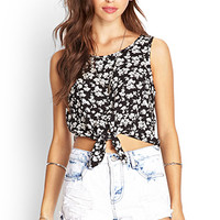 Knotted Floral Tank