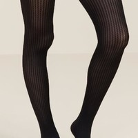 Fran Cable Ribbed Tights
